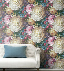 Peel And Stick Floral Self Adhesive Removable Wallpaper- 20.5 W X 18and039 L Roll