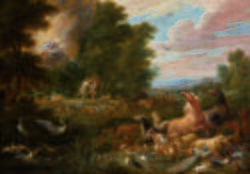 Oil Painting 100 Handpainted On Canvas Expulsion From The Garden Of Eden