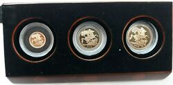 Gran Britain Series 2018 3 Values 1/4, 1/2 And 1 Sovereign Proof Case Official