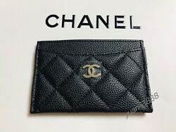 Free Shipping- Authentic Chanel Vip Gift  Silver CC Black Folded Card Holder  $79.90