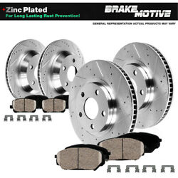Front+rear Drill Brake Rotors Ceramic Pads For Land Rover Discovery Range Rover