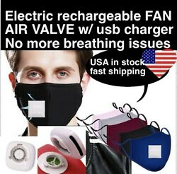 Reusable Face Mask With 2 Filters Washable Activated Air Valve Respirator Summer $8.95