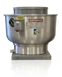 Restaurant Canopy Hood Grease Rated Belt Drive Exhaust Fan And Curb Adapter