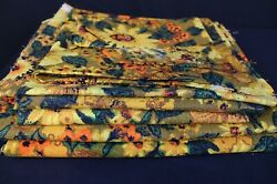 Vintage Upholstery Fabric Remnants Flower Power 1960 70s MCM Mid Century Modern