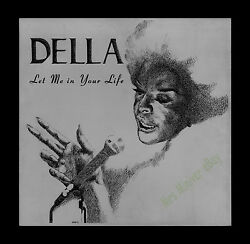 1973 Zinc Plate Etching Used To Make Della Reese Let Me In Your Life Jazz Album