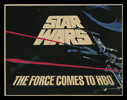 Amazingly Rare 1983 - Star Wars Coming To Hbo - 22x28 Movie Poster Display Sign