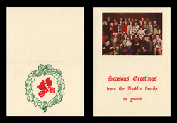 Steven Spielberg 1984 Holiday Card ☆ Shows Amblin Family+ E.t. Movie Poster Art