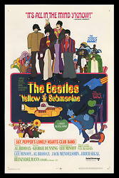 Yellow Submarine ☆ Rolled Studio Executive Advance Movie Poster ☆ The Beatles