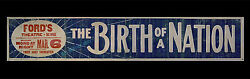 D.w. Griffithand039s The Birth Of A Nation 1916 Original Movie Poster Theater Banner
