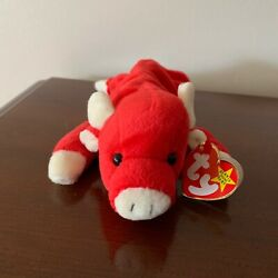 Rare And Retired Ty Beanie Babies Snort The Bull With Tag Errors
