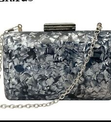 New Fashion Acrylic Bags Shell Evening Clutches Pearlescent Women Shoulder Bag $25.00