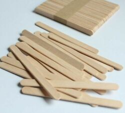 Wooden Popsicle Lolly Sticks Kids Art Diy Craft Making Project 4.5in 200pcs