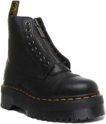 Dr Martens Sinclair Womens Leather Ankle Boots Black Size Us 5 - 10