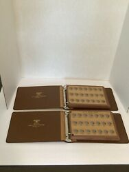 2 Pc The National Coin Albums Cents 1856-1963 Flying Eagle Indians Lincolns