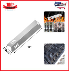 5pack-15 Stainless Steel Bbq Gas Grill Heat Plate Shield Tent Replacement For..