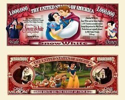 Snow White And The 7 Dwarfs Novelty Bills In A Soft Polly Sleeve You Get 8 Bills