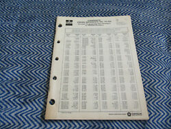 Mopar Composite Cross Reference Engineering To Mopar Part Numbers Catalog 75-100