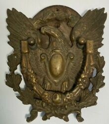 Vintage Large Brass Eagle Door Knocker 8x9 With Wall Hanging Mount