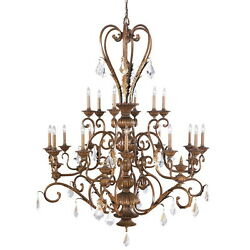 Kichler Lincoln Bronze And Crystal 18 Light Chandelier 8700