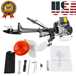 Pro 4 Stroke 3.6 Hp Outboard Motor 55cc Boat Engine With Air Cooling System Usa