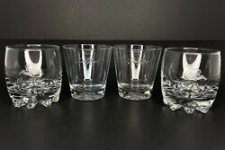 Crown Royal Whiskey Rocks Lowball Glasses 2 Different Designs Italy Barware