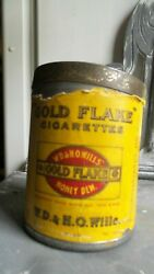 1940s Vintage Wd And Ho Wills Gold Flake Honey Dew Cigarette Round Tin Box