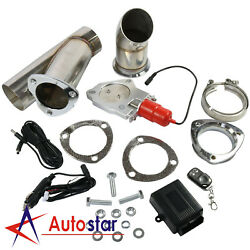2.5 63mm Electric Exhaust Catback Downpipe Cutout E-cut Out Valve Remote System