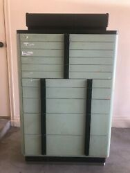 Vintage Green Metal Dental Cabinet Industrial The American Cabinet Company