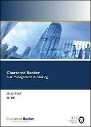 Risk Management In Banking Study Text By Bpp Learning Media