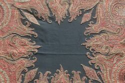 Authentic 19th C. Kashmiri Paisley Shawl Hand Embroidered Vv580