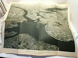 1933 Aerial Photo Poster New York City Map National Geographic Us Army Air Corps