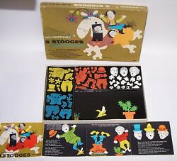 Three Stooges Colorforms No. 333 Tvs Laughable Clowns Vintage Opened