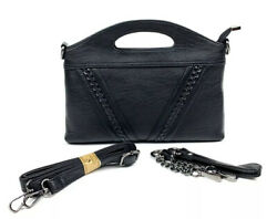 Lirenniao Women's Black Crossbody Faux Leather Purse Wallet Small Handbag $15.95