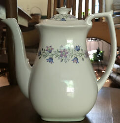 Spode Maytime Bone China Coffee Pot With Lid Discontinued Pattern 32oz England
