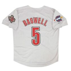 Jeff Bagwell Houston Astros Grey Road 2005 World Series Jersey Menand039s M-2xl