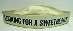 Looking For A Sweetheart Soda Fountain Ice Cream Parlour Ad Cloth Cap Hat A2ps