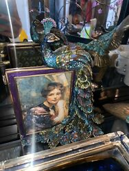 Jay Strongwater Peacock Picture Frame