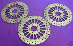 2000and039-2007and039 Flhp Police Edition Hd 11.5 Brake Rotors Super Spoke W/chrome Bolts