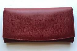 New Coach Vintage Madison Red Leather Envelope Clutch Purse Wallet Made In Italy