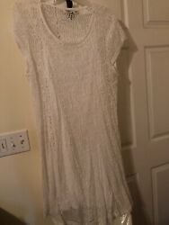 White Two Piece Dress Size 24 Cato Worn Only Once Very Cute $7.50