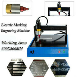 300x200mm Electric Metal Marking Engraving Machine For Cooper Steel Aluminum