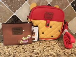 Loungefly Disney Honey Pot Winnie The Pooh Crossbody Purse W/coin Purse And Tote