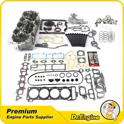 Head Gasket Bolt Timing Chain Cover Water Pump Cylinder Head Set Fit 2.4l Toyota
