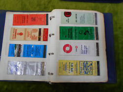 Cc. About 150 Matchbook Labels In Album