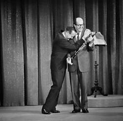 The Jack Benny Show 1959 Withjack Benny, Phil Silvers Old Tv Photo