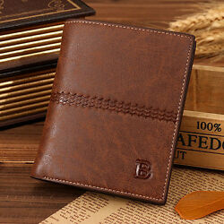 Classic Men's Leather Bifold Credit ID Card Holder Wallet Billfold wLetter B $6.99