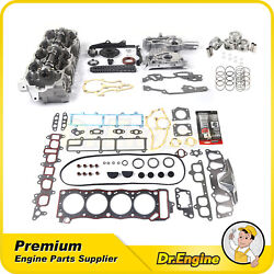 Head Gasket Set Timing Chain Cover Kit Piston Cylinder Head Fit 85-95 Toyota 2.4