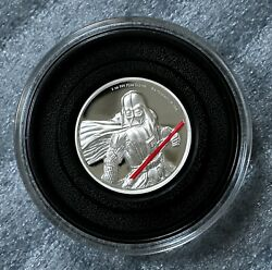 2017 Niue Disney Star Wars Darth Vader 2 Oz Silver Proof Coin 5k Minted Free S/h