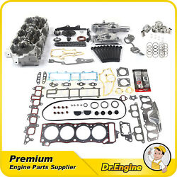 Head Gasket Bolts Timing Chain Cover Kit Piston Cylinder Head Fit 85-95 Toyota