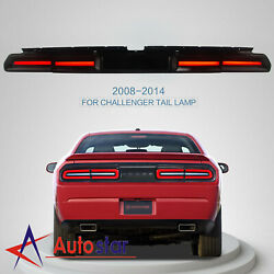 Led Smoked Tail Lights Lamps Fit 2008-2014 Dodge Challenger Sequential Indicator